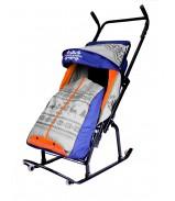 Санки-коляска Герда 4-Р3 с 4 колесиками