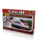 Железная дорога Racing Pro Сапсан + автотрек 7,8 м  (220V)