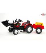 FAL 1021M FALK Трактор-экскаватор педальный с прицепом красный