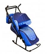 Санки-коляска Вьюга 8-Р1 Арт 06 синий-голубой