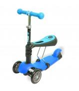 Y-BIKE GLIDER Seat blue Каталка-самокат с сиденьем 3 в 1