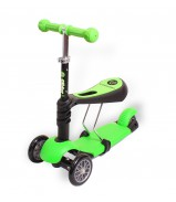 Y-BIKE GLIDER Seat green Каталка-самокат с сиденьем 3 в 1