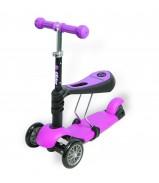 Y-BIKE GLIDER Seat pink Каталка-самокат с сиденьем 3 в 1
